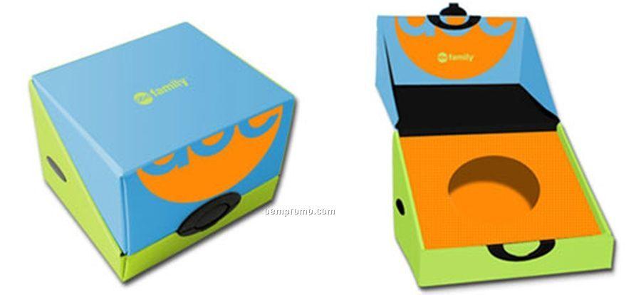 "Fiberboard Gift Box W/ Latch - Holds 15 Jewel Cases (6.75""X5.25""X6"")"