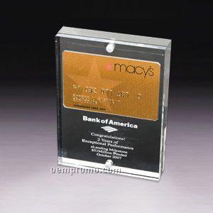 Magnetic Credit/ Membership Card Entrapment (Screen Printed)