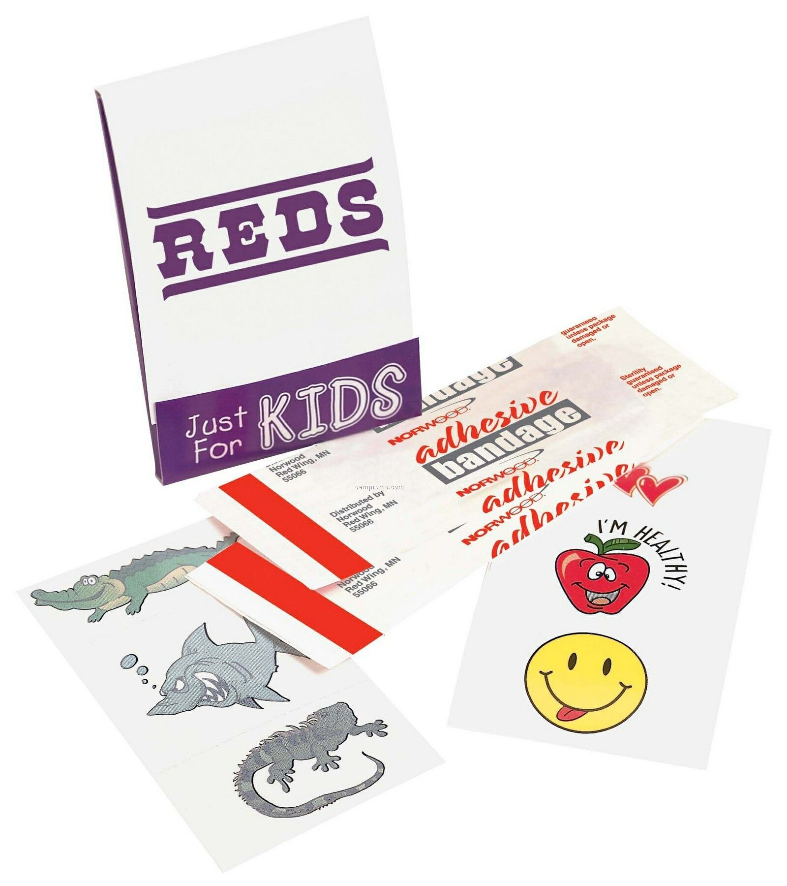 Pillowline Kid's Fun Pocket Pack First Aid Kit With Stickers