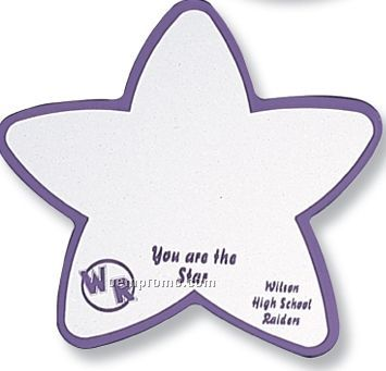 Star Shaped Acrylic Mirror Button/ Magnet