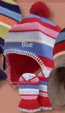 Acrylic Toddler Hat & Mitten Set