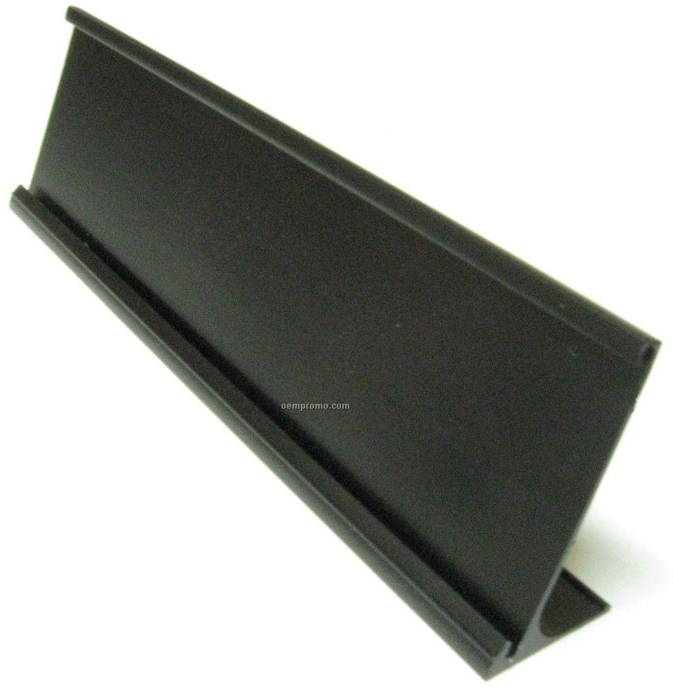 Black Traditional Desk Easel Name Plate Holder Holder