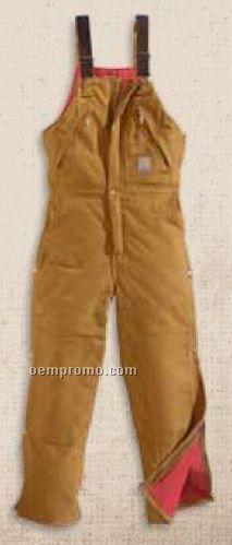 Carhartt Duck Zip To Waist Biberall / Quilt Lined