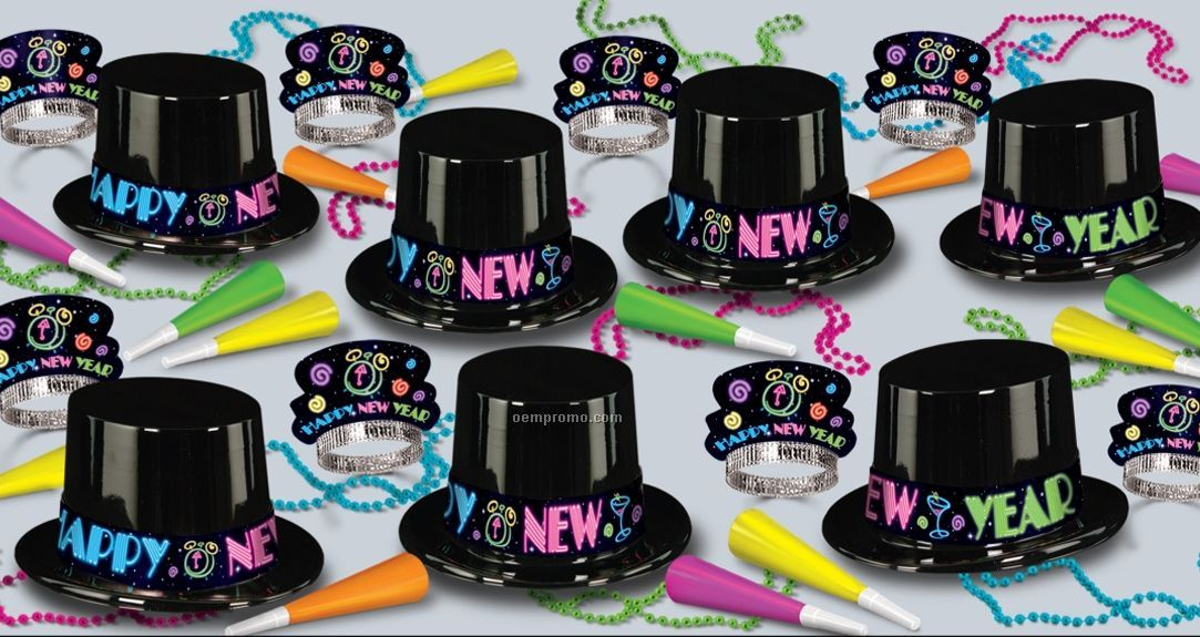 Neon Party New Year Assortment For 50