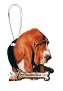 Basset Hound Dog Zipper Pull