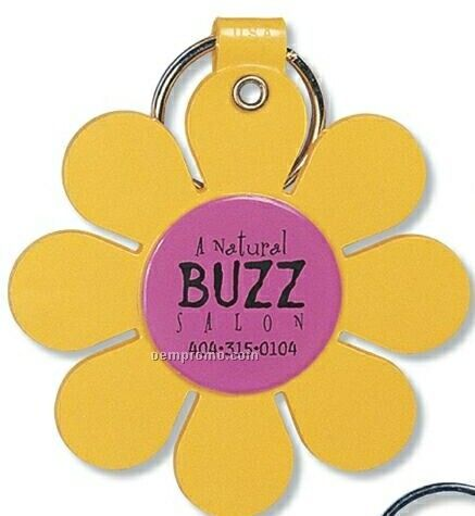 Daisy Flower Key Tag