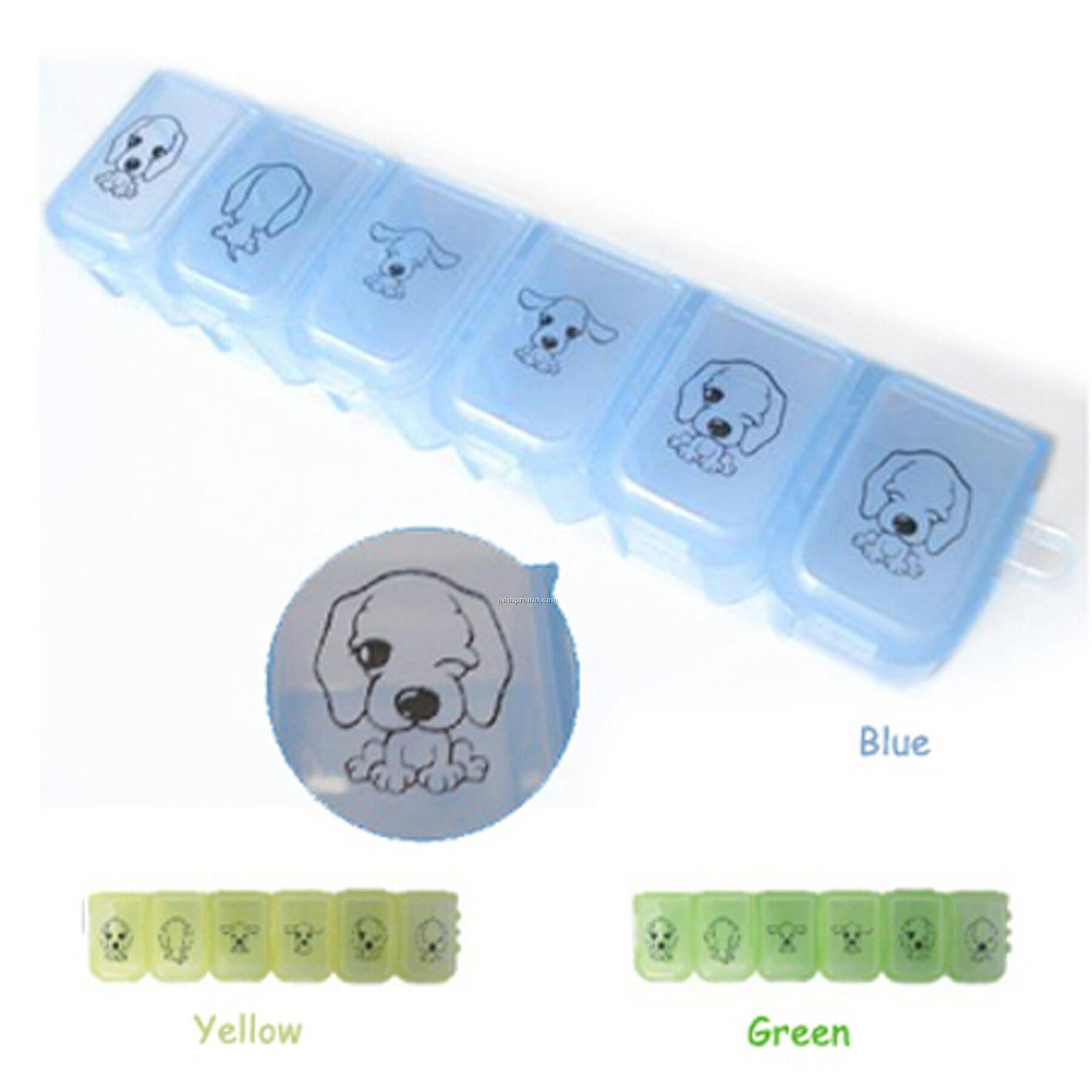 Six Grid Pill Box