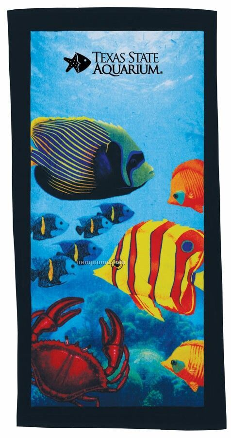 Fish Stock Design Beach Towel - Printed
