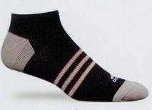 Men's Climacool Socks /Size 9 To 12/ Black/Gray