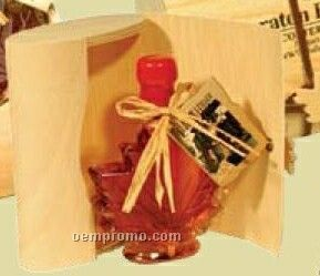 Pure Maple Syrup In Small Papyrus Natural Wood Package