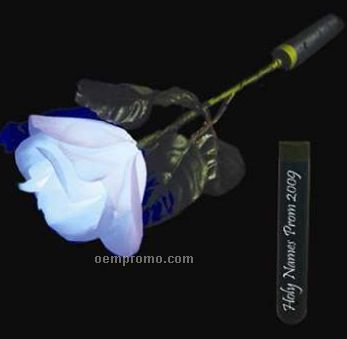 White Rose Petal LED Rose