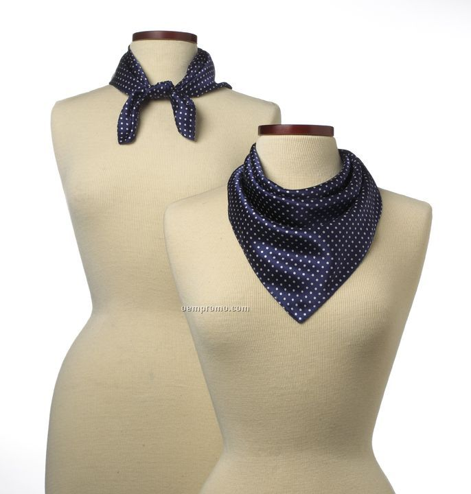 """Wolfmark Newport Polyester Scarf - Navy Blue (21""""X21"""")"""