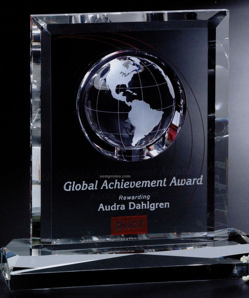 "Global Gallery Crystal Columbus Global Award (8"")"