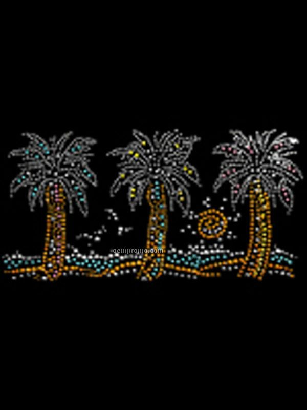 Rhinestone Transfer Palm Trees