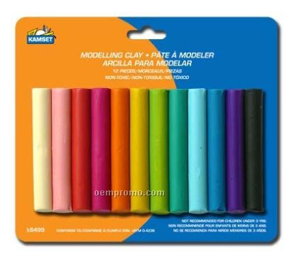 12 Piece Modeling Clay