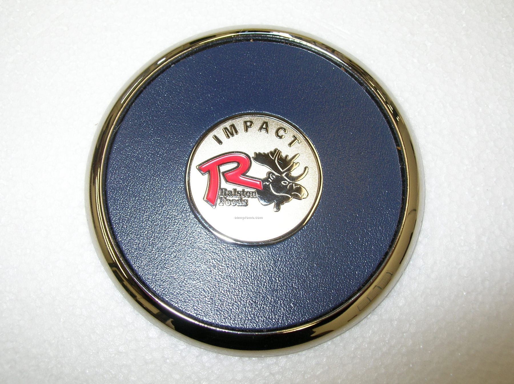 Metal Coaster With Die Struck Coin