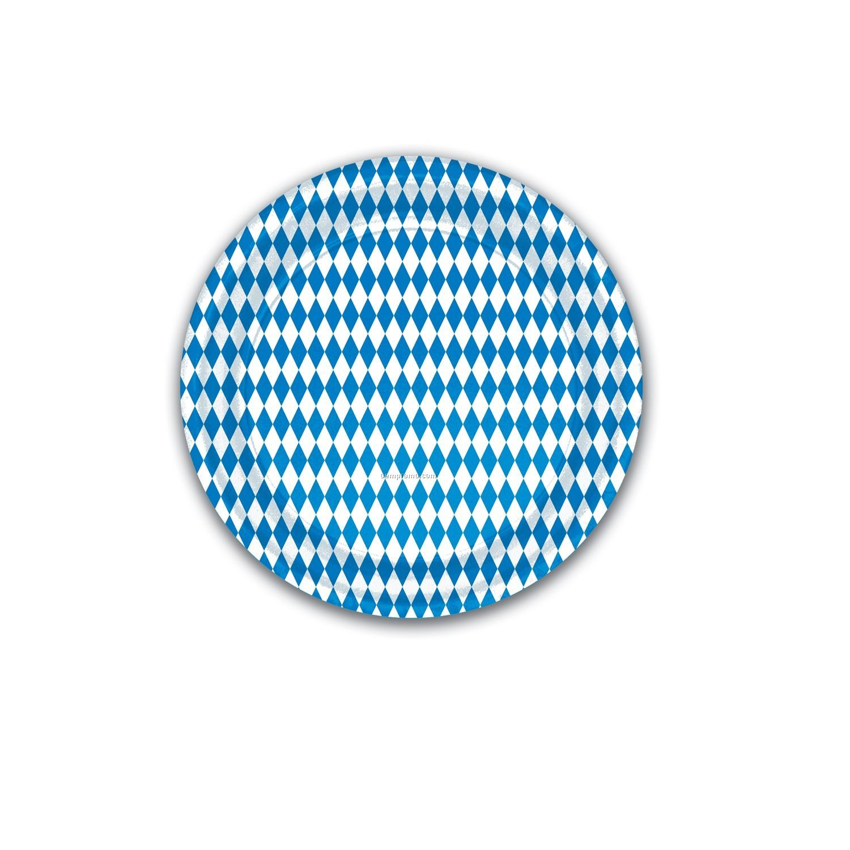Oktoberfest Blue & White Plates