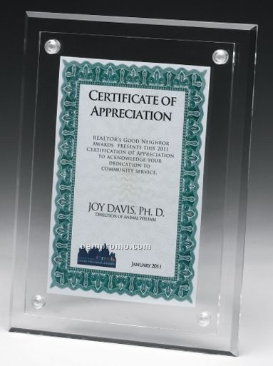 Small Blank Acrylic Certificate Holder