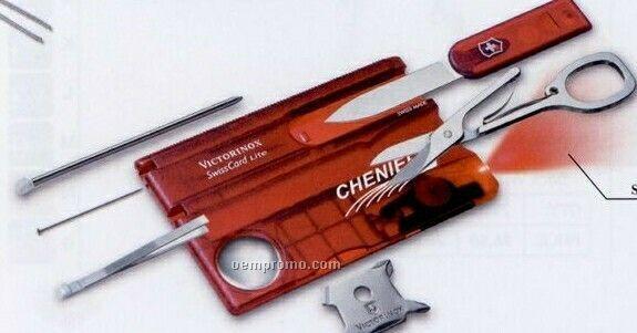 Victorinox Swisscard Lite Swiss Army Set - Translucent Ruby Red