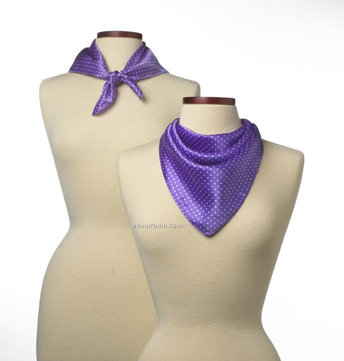 "Wolfmark Newport Polyester Scarf - Purple (21""X21"")"