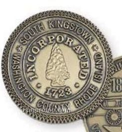 """1"""" 12 Gauge Die Struck Solid Brass Coin"""