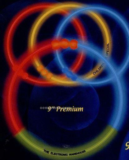 """9"""" Premium Triple Color Glow Bracelet (Red/ White/ Blue)"""