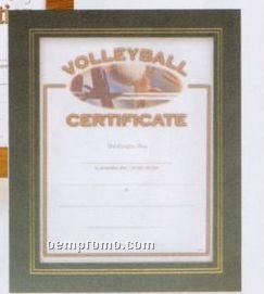 Green Leatherette Certificate Holder Frame