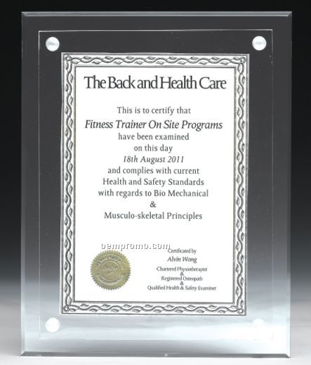 Medium Blank Acrylic Certificate Holder