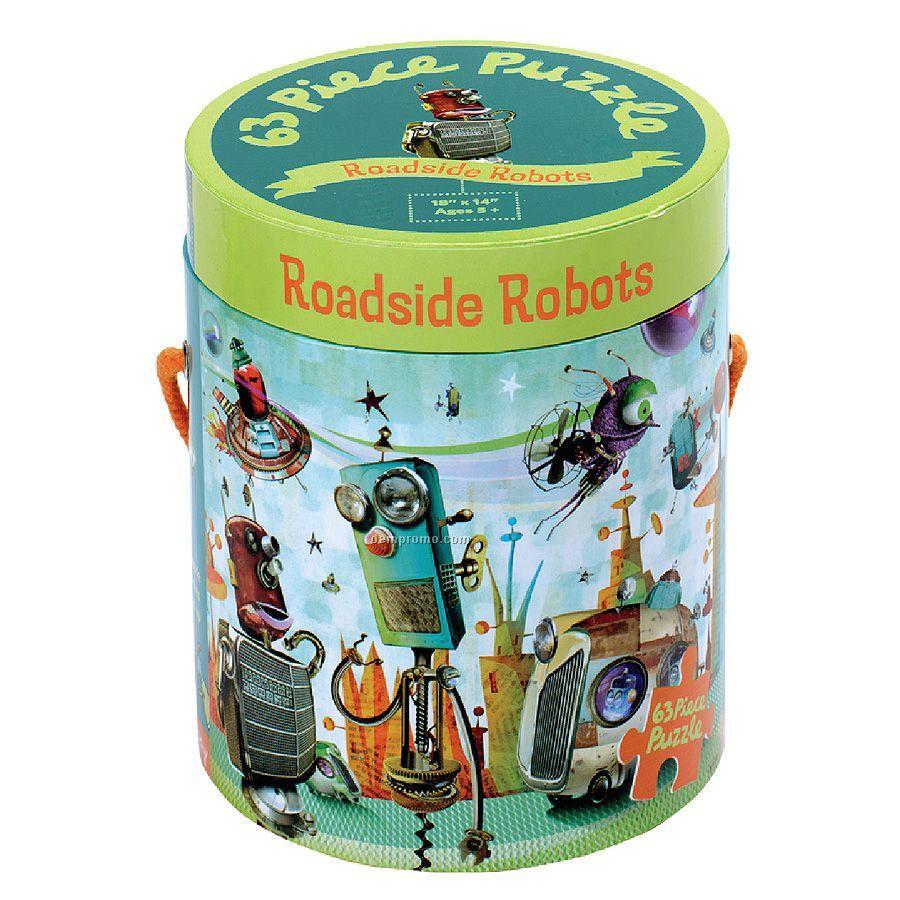 Roadside Robots 63-piece Puzzle