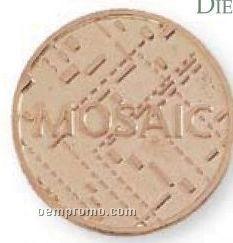 """1"""" 10 Gauge Die Struck Solid Brass Coin"""