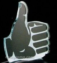 Acrylic Paperweight Up To 16 Square Inches / Thumbs Up
