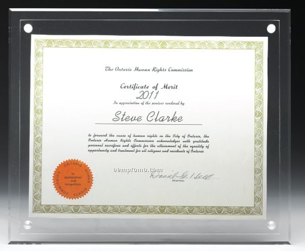 Large Blank Acrylic Certificate Holder