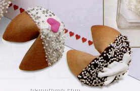 Tin Of 50 Good Fortune Cookies Dipped In White Chocolate (Bridal Shower)