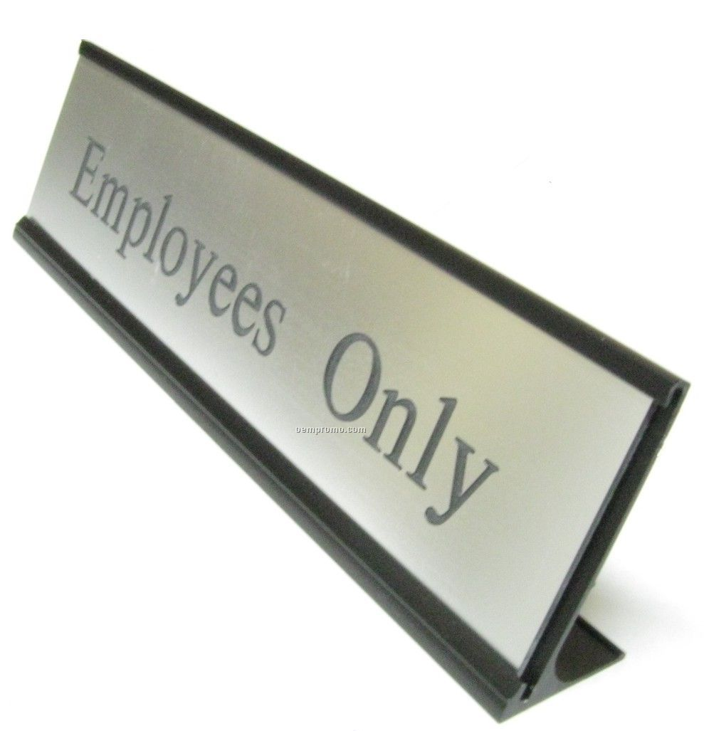 """Traditional Desk Easel Name Plate With Black Holder (8""""),China Wholesale Traditional Desk Easel ..."""