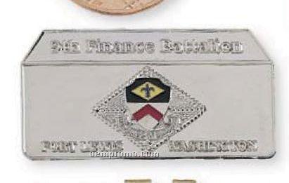 """1-1/4"""" 12 Gauge Die Struck Solid Brass Coin"""