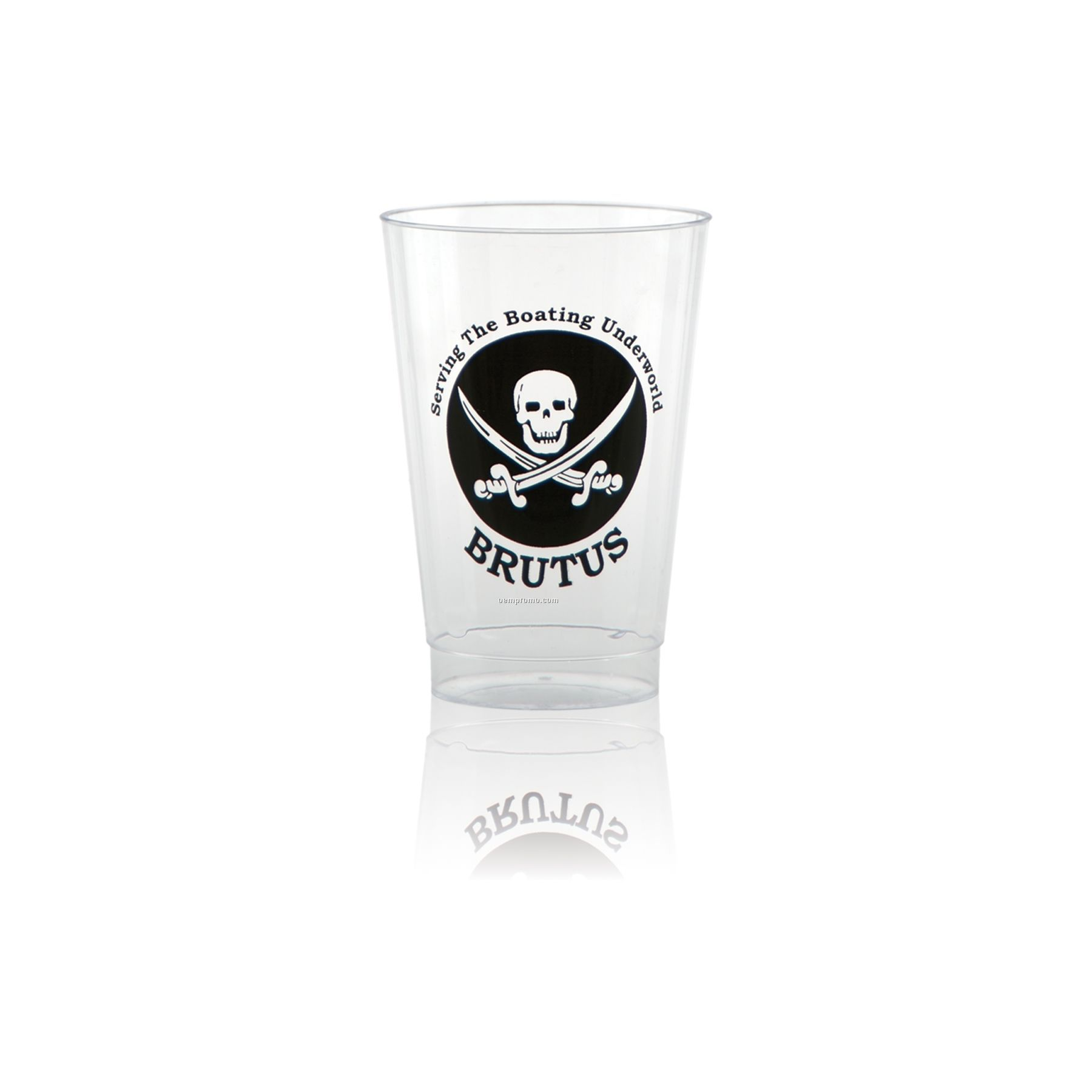 14 Oz. Clear Fluted Plastic Cup