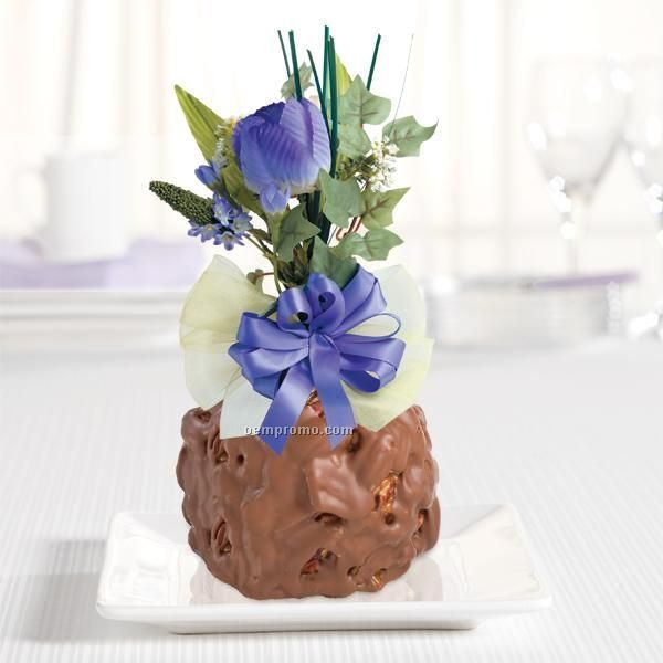 Purple Tulips Jumbo Caramel Apple Gift - 1 Piece