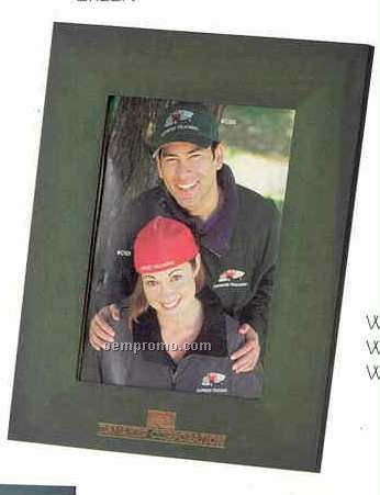 """Simple Wood Picture Frame- 4""""X6"""" (Green)"""