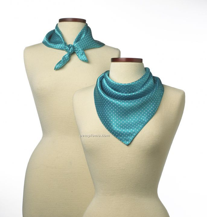 """Wolfmark Newport Polyester Scarf - Teal Green (21""""X21"""")"""