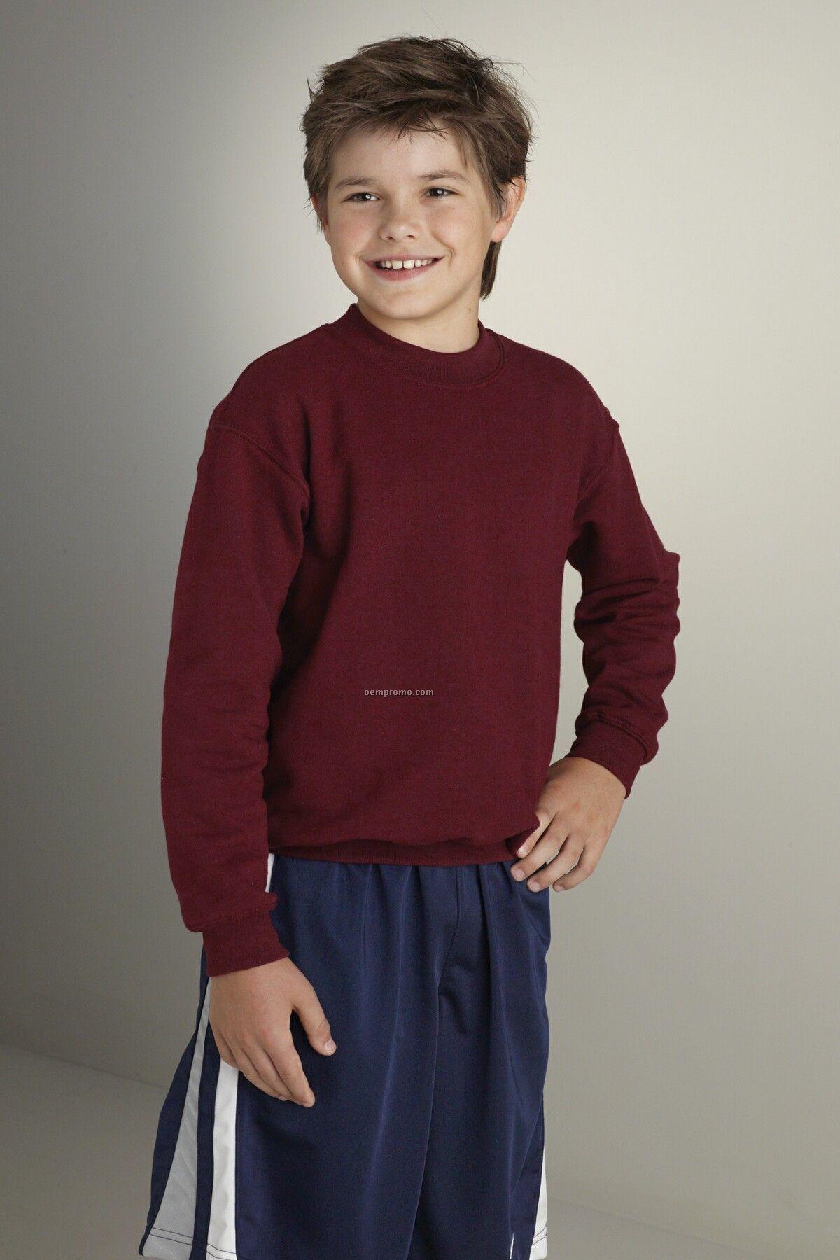 Youth Gildan Heavy Blend Crewneck Sweatshirt - Heather