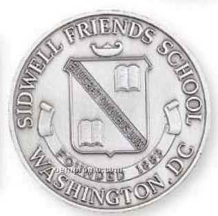 """1-1/4"""" 10 Gauge Die Struck Solid Brass Coin"""