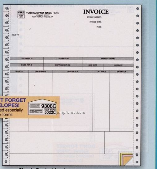 Classic Product Invoice - Peachtree Compatible (4 Part)