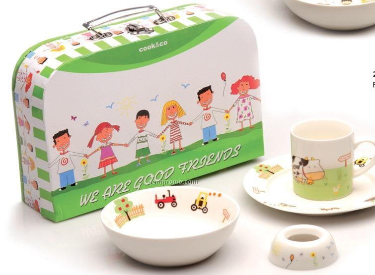 Friendship 4 Piece Lunch Set