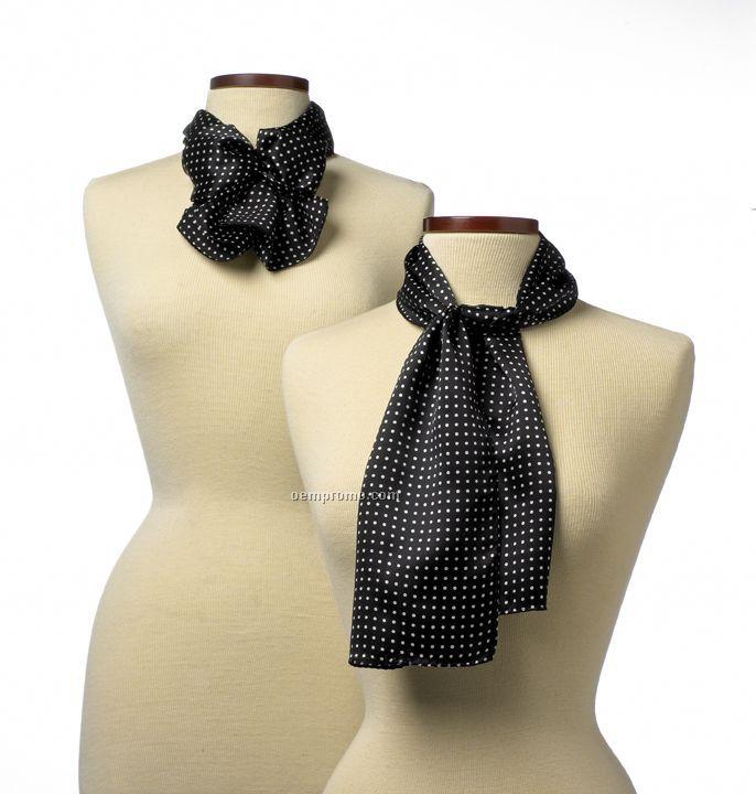 "Wolfmark Newport Polyester Scarf - Black (45""X8"")"