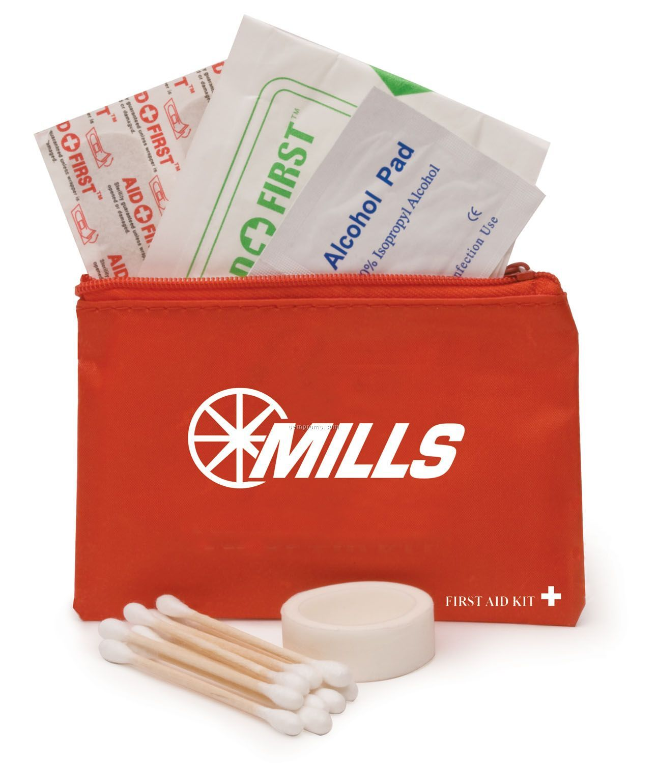 31-piece Mini First Aid Kit With Zipper Pouch