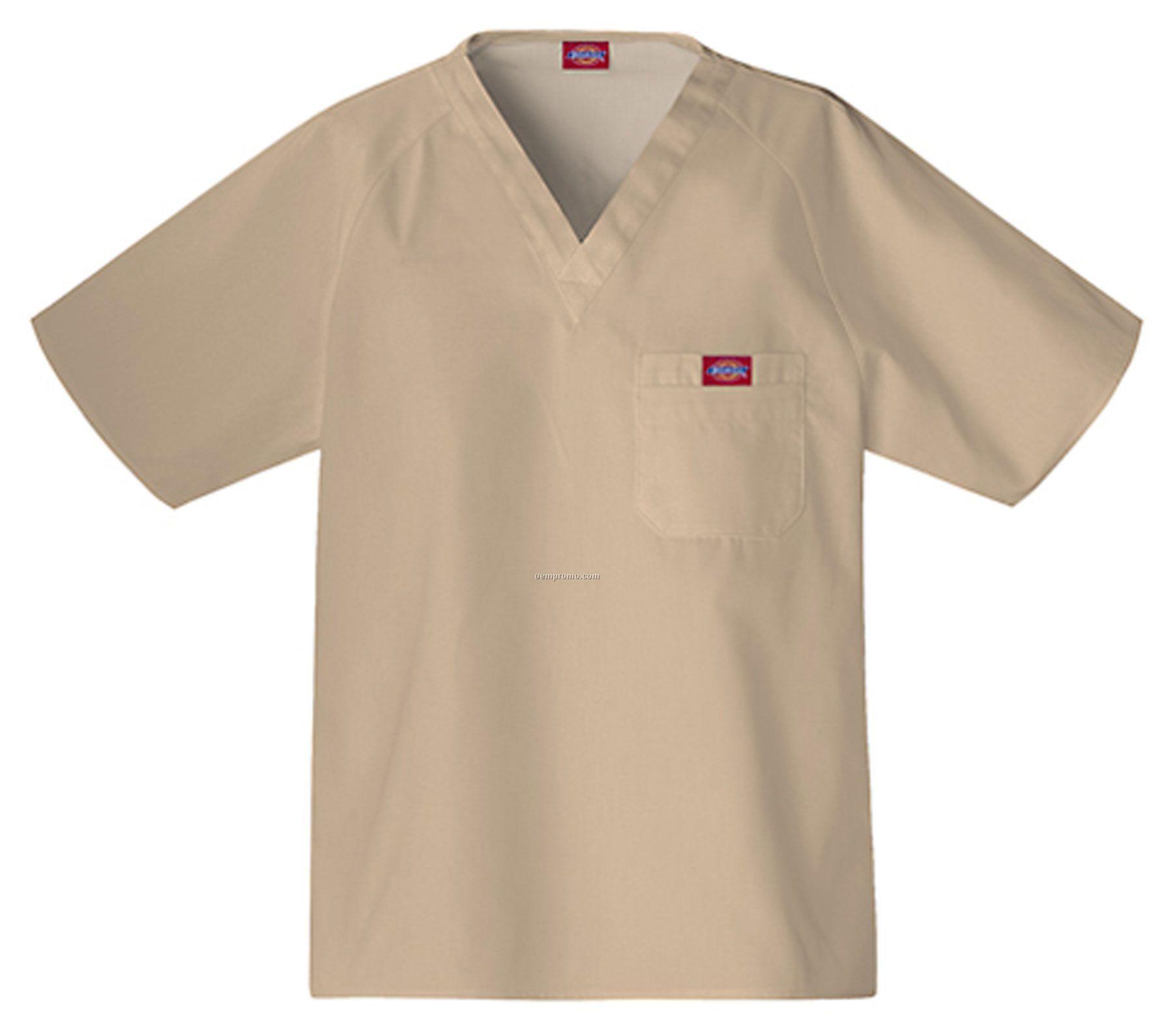 Dickies Men's Raglan Sleeve Scrub Top