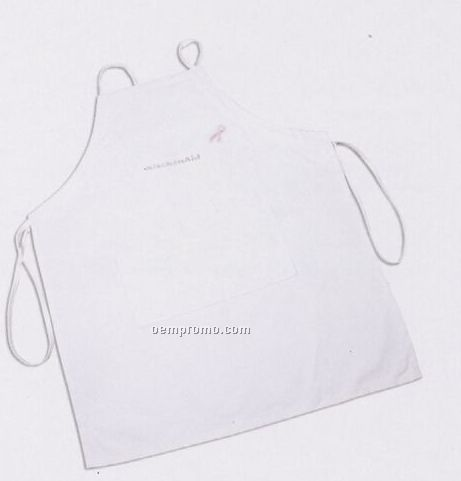 "Poly Cotton Twill Self Strap Apron W/ 2 Pockets (26""X30"")"