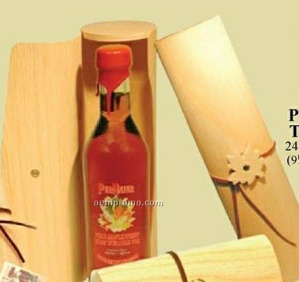 Pure Maple Syrup In Papyrus Tubulus Wood Package 350 Ml