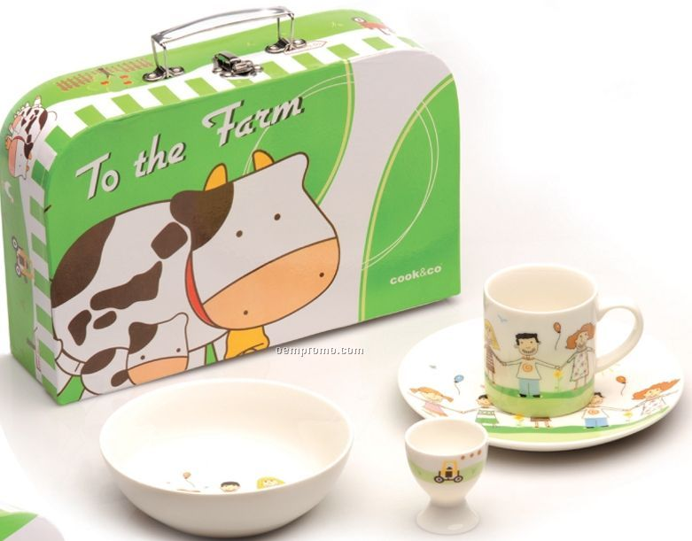 To The Farm 4 Piece Lunch Set