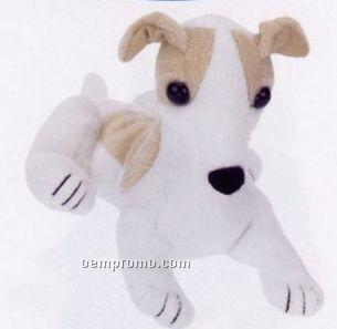White & Beige Greyhound Stuffed Beanie